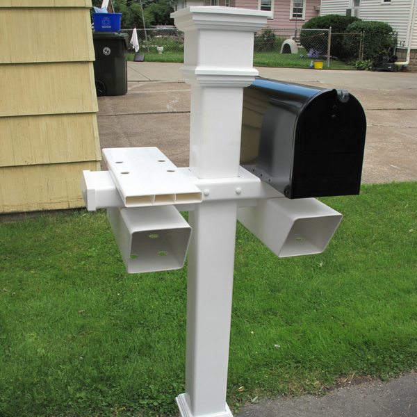 A Kensington style double Mailbox Post