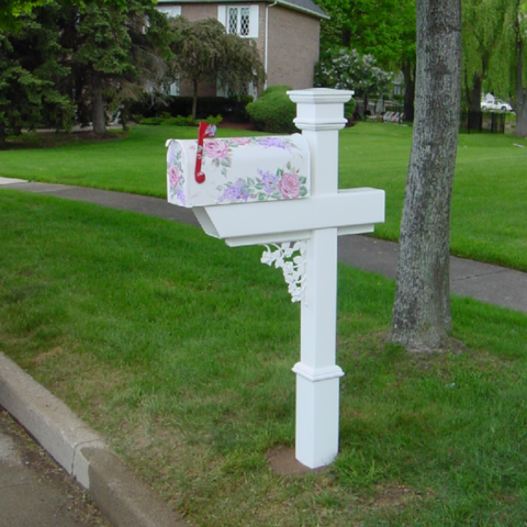 Customer chose a rose scroll to match the roses on their mailbox