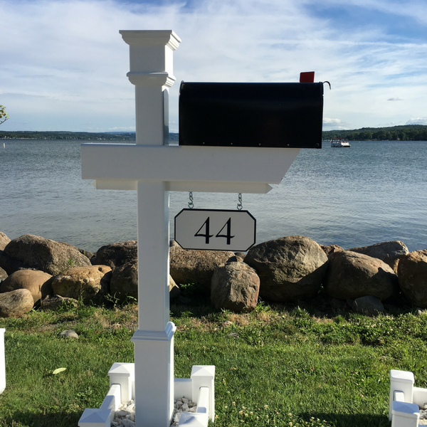 Kensington Mailbox Post with custom engraved house number option