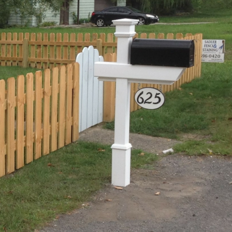 Kensington Mailbox Post with house number